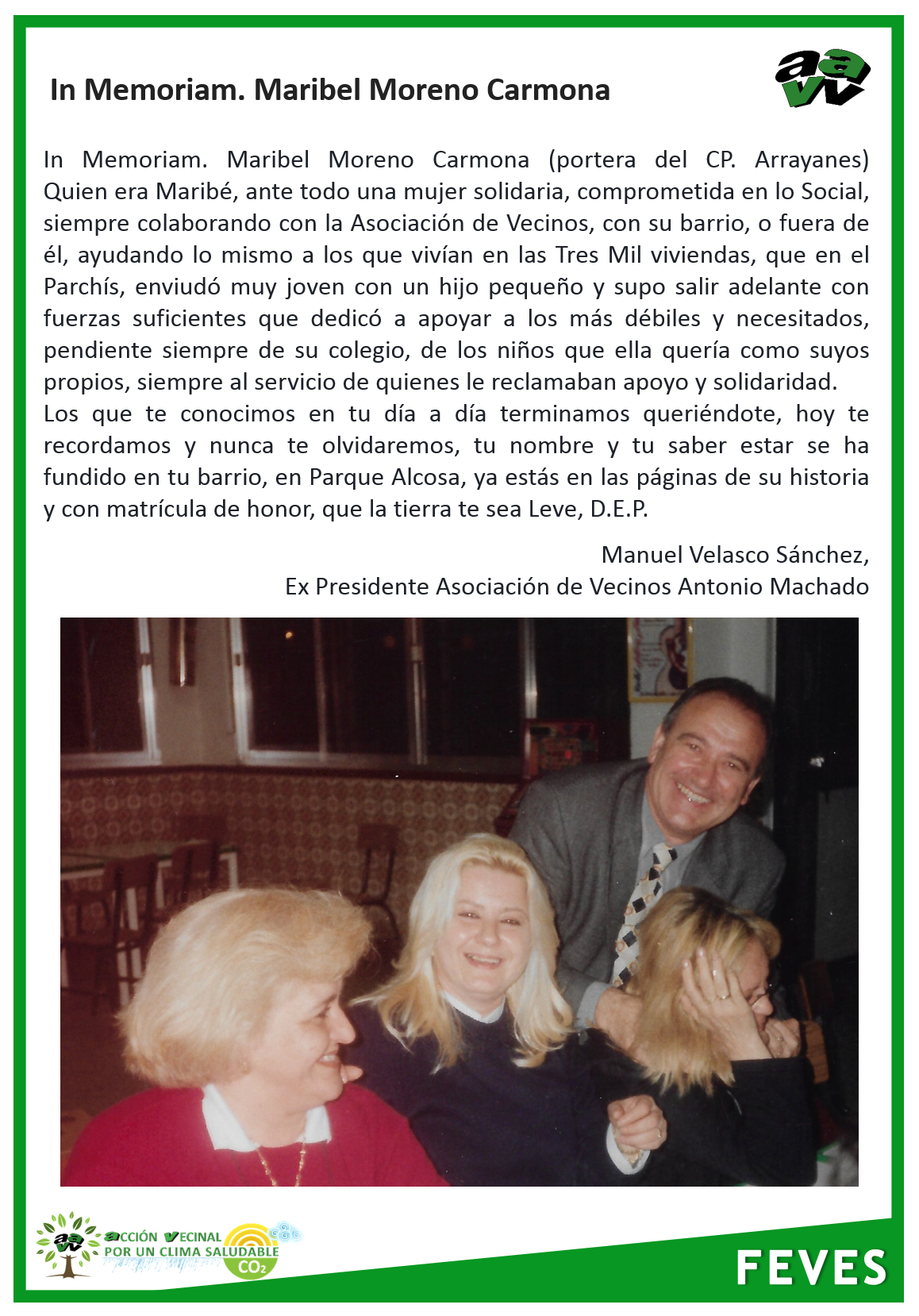 In memoriam marible moreno